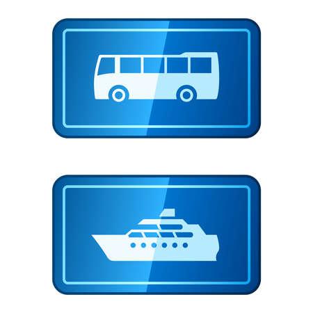 Travel transportation Vector