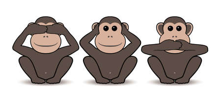 Three monkeys Stock Vector - 11656159