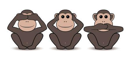 monos: Tres monos Vectores