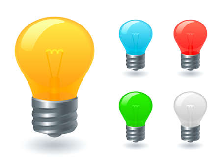 Light bulb icons Stock Vector - 11656166