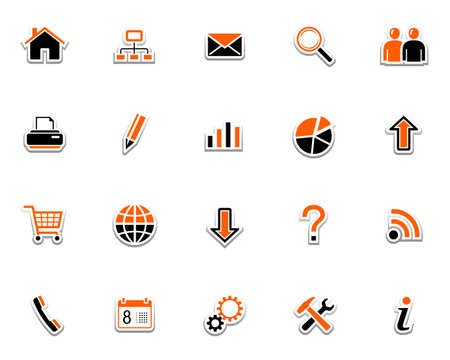 pencil set: Web icons