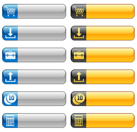 uploading: Tasti della bandiera con le icone web 2 Vettoriali