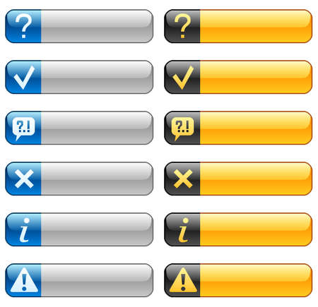 inform information: Banner buttons with web icons 3 Illustration