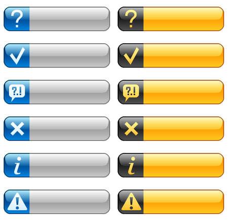 buttons: Banner pulsanti con icone web 3 Vettoriali