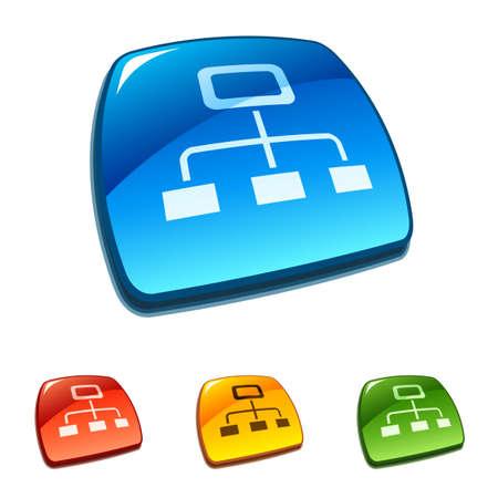 Sitemap buttons Illustration