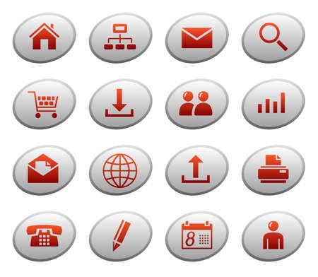 ellipse: Web icons on ellipse buttons 1 Illustration