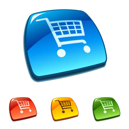 Shopping cart buttons Stock Vector - 11661403