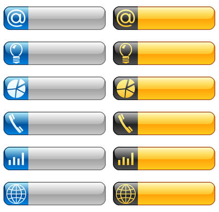 Banner buttons with web icons 6 Stock Vector - 11661410