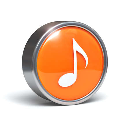 3d button: Music symbol on 3D button