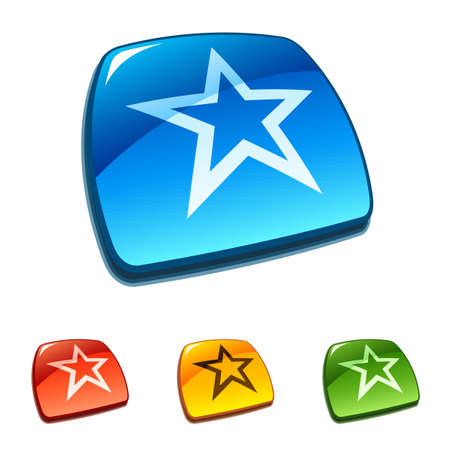 Star buttons Vector