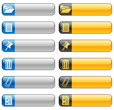 Banner buttons with web icons 8 Stock Vector - 11661405