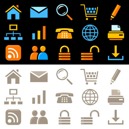 Website icons Stock Vector - 11660622