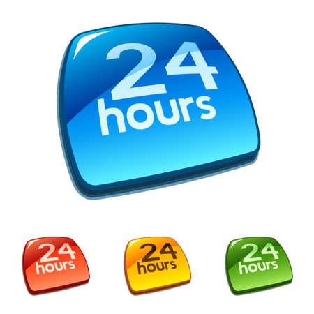 twenty four hours: 24 hours sign