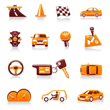 automatic transmission: Automotive icon set