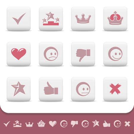 smily: Professional web icons on white buttons set 3