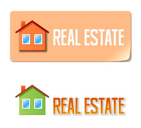Real estate banner with house icon Stock Vector - 16562013