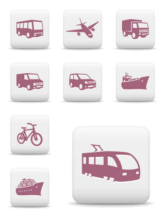 Transportation icon set Illustration