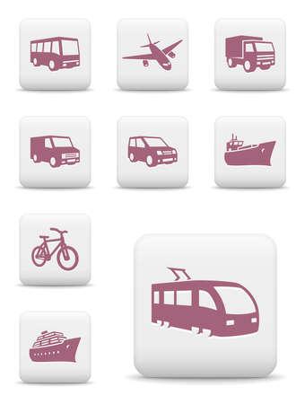 Vervoer icon set Vector Illustratie