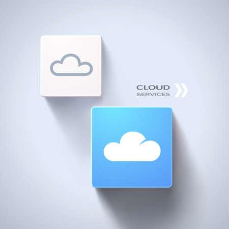 Cloud services concept eps10 Illustration
