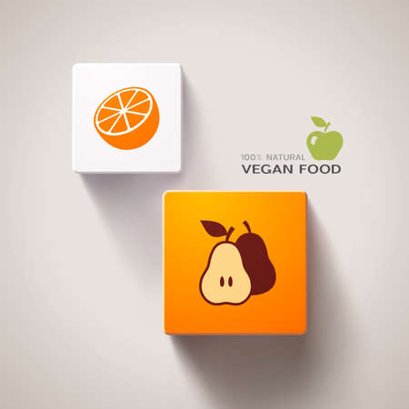 Vegan food concept eps10 Vector