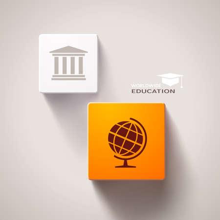 cubic: Educational concept