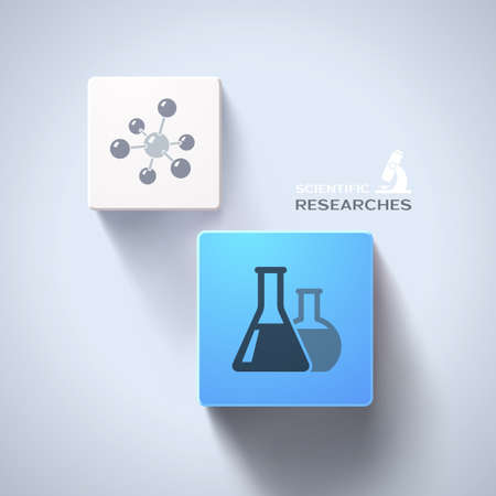 cubic: Chemical concept Illustration