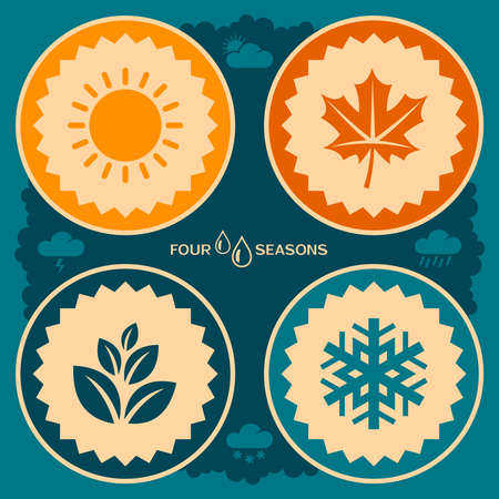 fall winter: Four seasons poster design