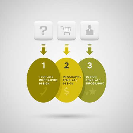 elipse: Dise�o Infograf�a con verdes elementos elipse amarillas
