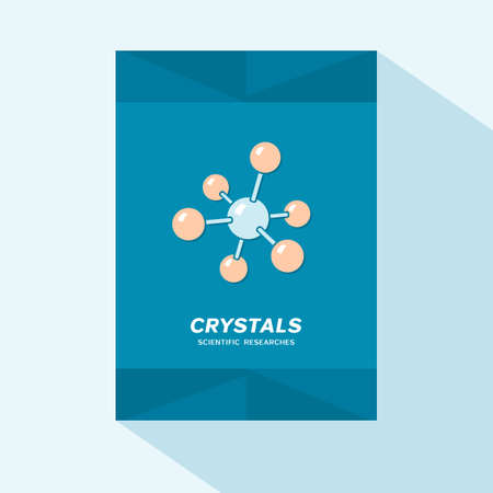 researches: Brochure cover design with crystal lattice icon Illustration
