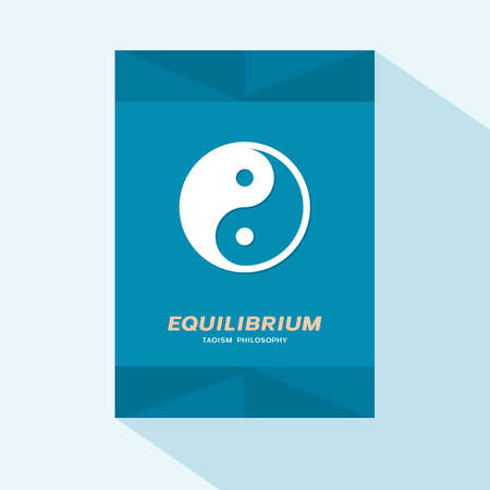 Brochure cover design with Yin Yang symbol Illustration