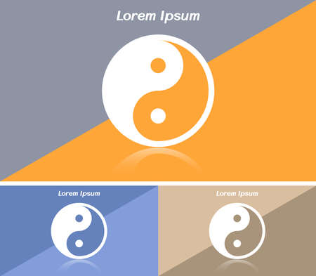 Business card or web banner with Yin Yang symbol