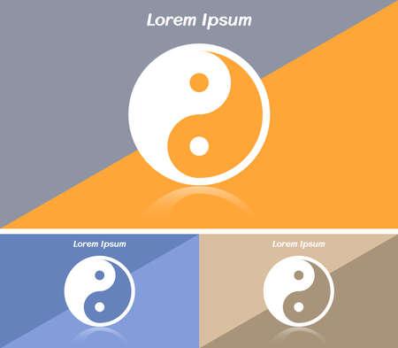 yin y yan: Tarjeta de visita o banner web con el símbolo de Yin Yang
