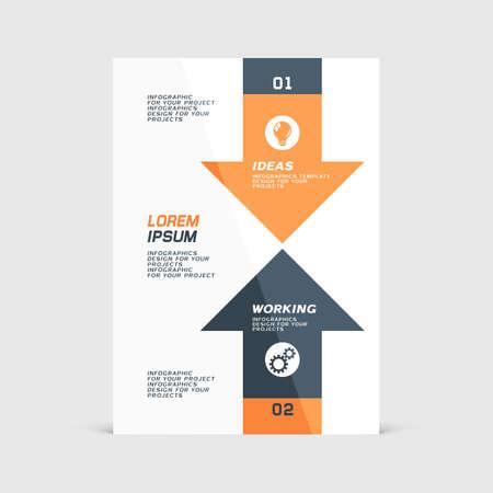 Corporate design of paper flyer or brochure cover Vector Illustration