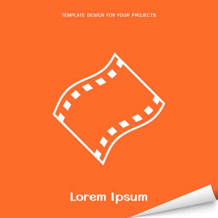 Orange banner with film icon