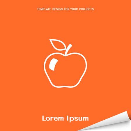 Orange banner with apple icon