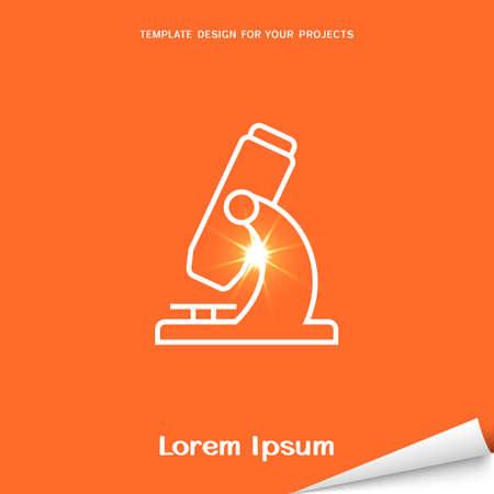 Orange banner with microscope icon