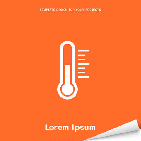 Orange banner with thermometer icon