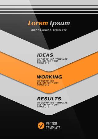Brochure cover or web banner design with stripes. Vector illustration
