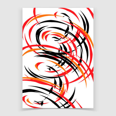 Abstract background with spiral shapes. Vector illustration