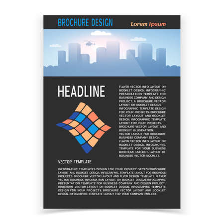 Diseño de portada de folleto o banner web. Ilustración vectorial