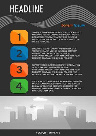 Brochure cover or web banner design. Vector illustration