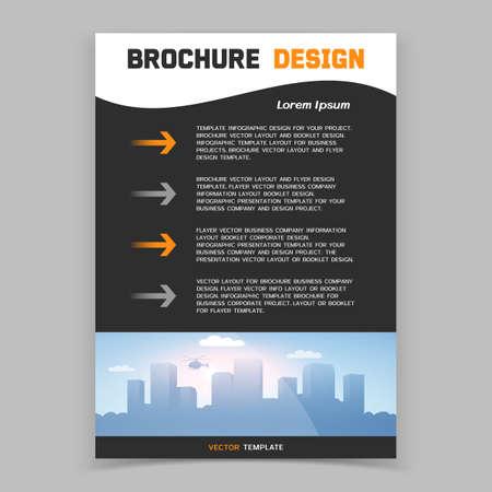 Brochure cover or web banner design. Vector illustration Vector Illustration