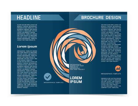 Paper brochure or web banner design. Vector illustration