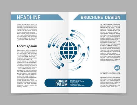 Business brochure or web banner design. Vector illustration