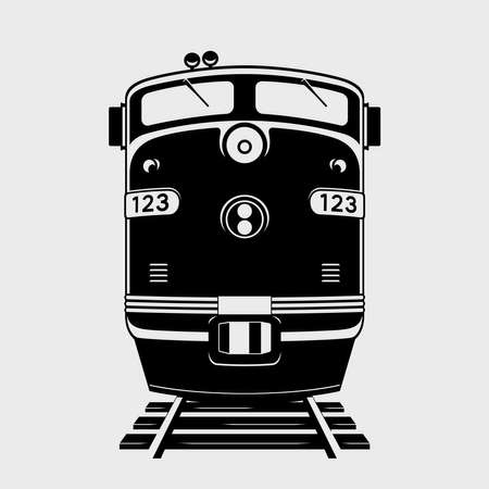 Train icon. Silhouette of locomotive. Vector illustration Vektorové ilustrace