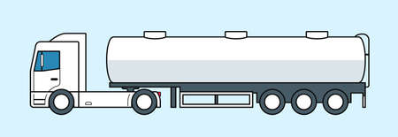 Tanker truck icon. Fuel or water lorry. Vector illustration