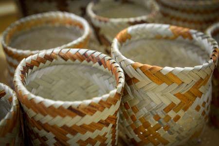 Vegetable fiber crafts made by Guarani aborigines