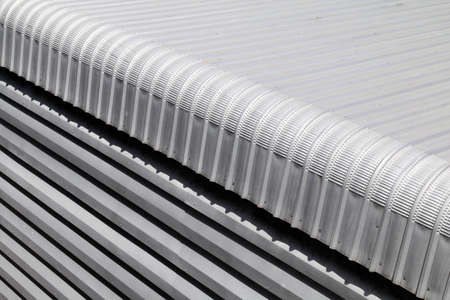 Metal sheet closeup roofing of Building industry big size, Heat insulation material texture for reflection sun radiation and protect sun light heat in to house, insulation fiber resistance sheet