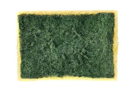 Sponge, Old Sponge Wash, Dish washing sponge, Fiber Absorbent Yellow Sponges cleaning Isolated on white background