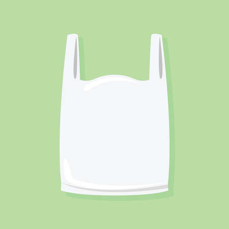 bolsa blanca de residuos de plástico, bolsas de basura de plástico blanco, bolsa de basura de plástico blanca ilustración Ilustración de vector